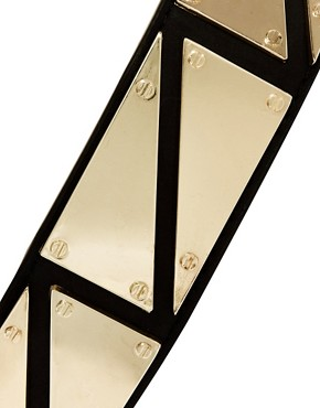 Image 2 ofASOS Triangle Metal Plate Detail Waist Belt