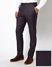 ASOS Slim Fit Suit Trousers in 100% Wool Birdseye