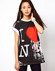 River Island New York Graffiti T-Shirt