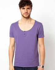 ASOS T-Shirt With Scoop Grandad Neck