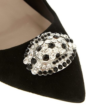 Image 2 of Dune Single Sole Court Shoes With Embellishment