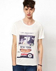 Brooklyn We Go Hard Hot Dog T-Shirt