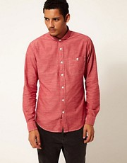 Replay Shirt Chambray Long Sleeve Penny Collar 1 Pocket