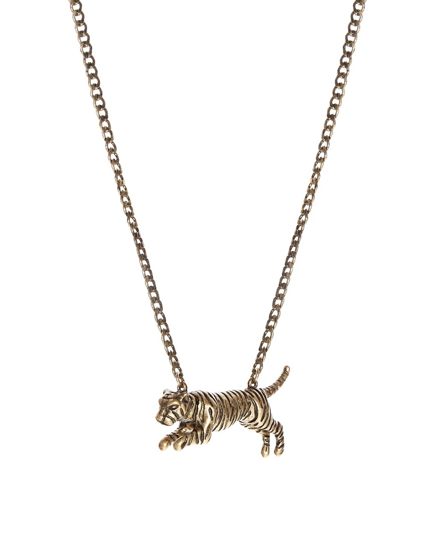 Image 2 of ASOS Necklace With Tiger