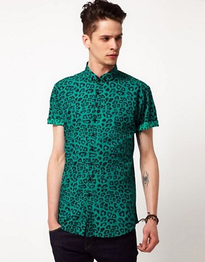 Image 1 ofVillage Green Animal Print Shirt