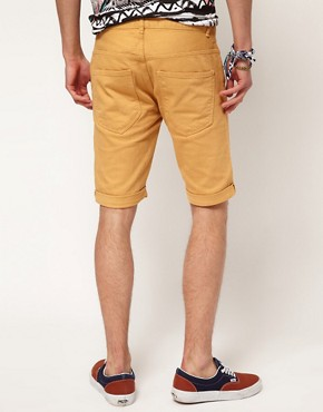 Image 2 ofRiver Island Yellow Denim Shorts