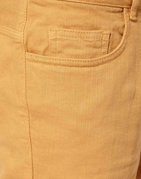 Image 3 ofRiver Island Yellow Denim Shorts