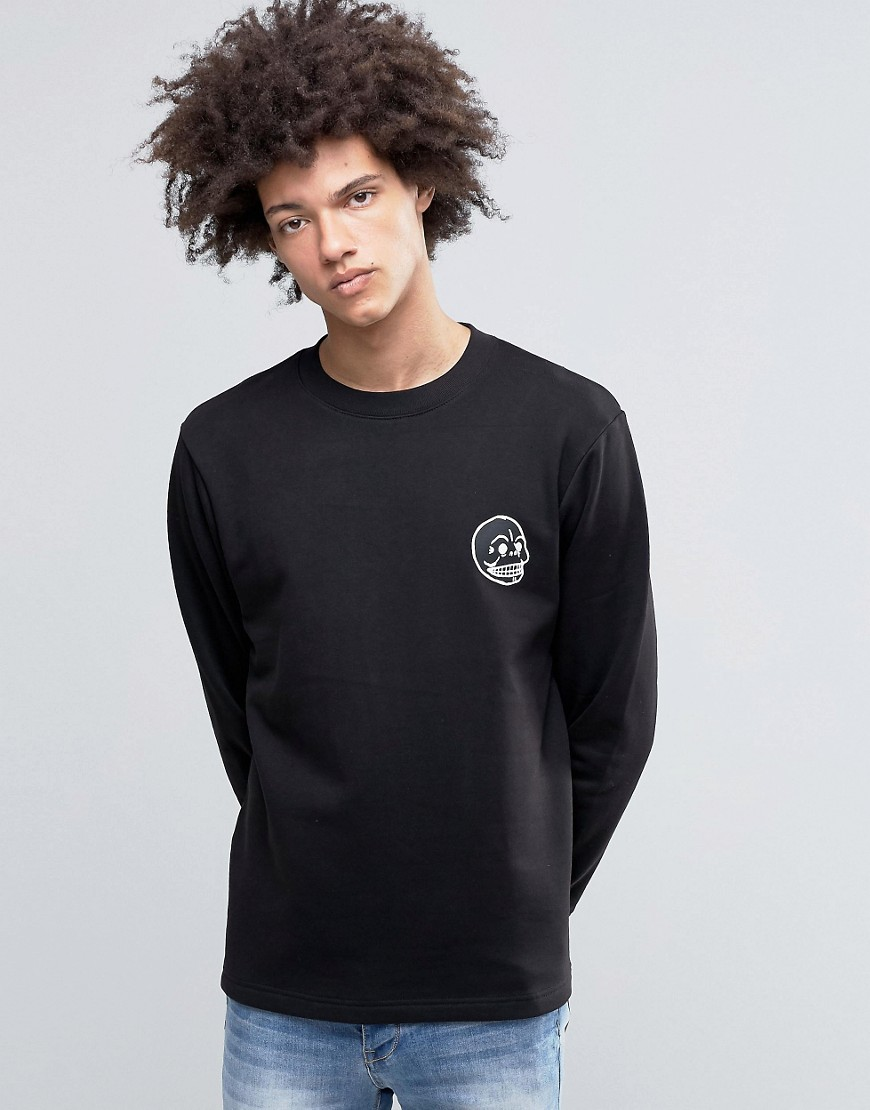 Cheap Monday State Sweatshirt Skull Small Logo Black - Black