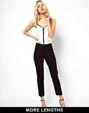 ASOS Crop Trousers With Zip Pocket