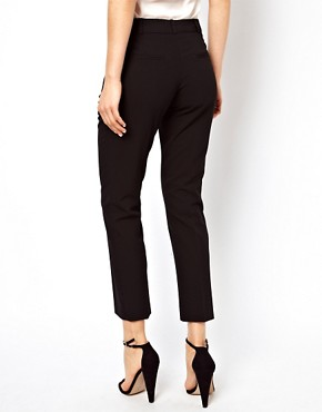 Image 2 ofASOS Crop Trousers With Zip Pocket