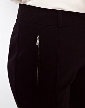 Image 3 ofASOS Crop Trousers With Zip Pocket