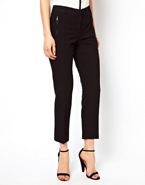 Image 4 of ASOS Crop Trousers With Zip Pocket