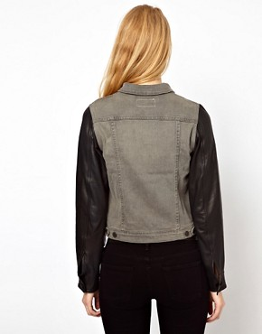 Image 2 ofRag &amp; Bone/Jean The Jean Jacket With Leather Sleeves