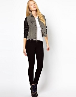 Image 4 ofRag &amp; Bone/Jean The Jean Jacket With Leather Sleeves