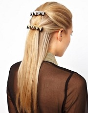 ASOS Pack of Two Pyramid Hair Barrettes