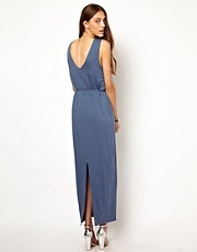 Whistles Lillian V Back Maxi Dress