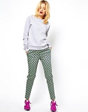 ASOS Trousers in Statement Geo Print
