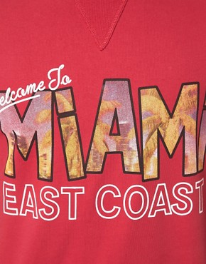 Image 3 ofASOS Sweatshirt With Miami Print
