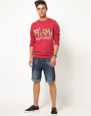 Image 4 ofASOS Sweatshirt With Miami Print