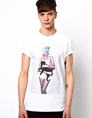 New Love Club T-Shirt Masked Cat Girl