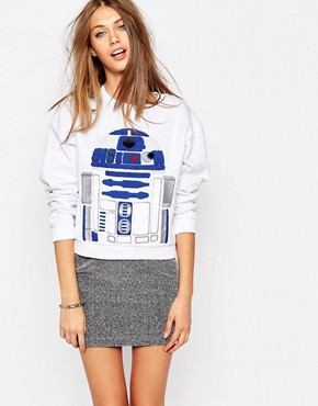 Eleven Paris Sweatshirt with R2-D2 Embellished Front Print