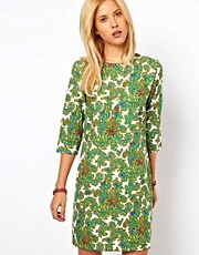 ASOS Shift Dress In Paisley Print