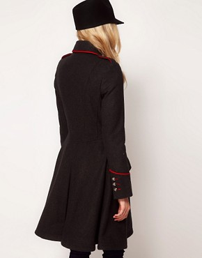 Image 2 ofASOS Military Fit And Flare Coat