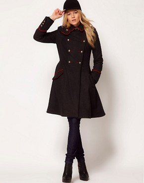 Image 4 ofASOS Military Fit And Flare Coat