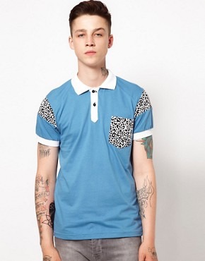 Image 1 ofYour Eyes Lie Polo with Leopard Print