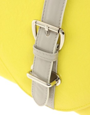 Image 4 ofASOS Contrast Buckle Clutch