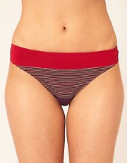 Huit Multi Stripe Full Bikini Bottom