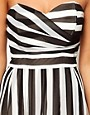 Image 3 ofTFNC Skater Dress in Bold Stripe Chiffon