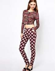 House of Holland Skinny Jeans with Polka Dot Print