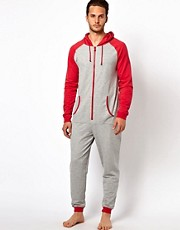 River Island Gray Raglan Onesie