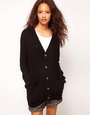 Image 1 ofASOS Chunky Rib Cardigan