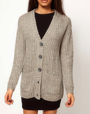 Image 3 ofASOS Chunky Rib Cardigan
