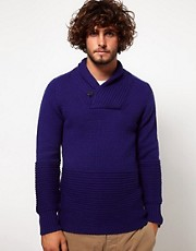 G Star Jumper With Shawl Collar
