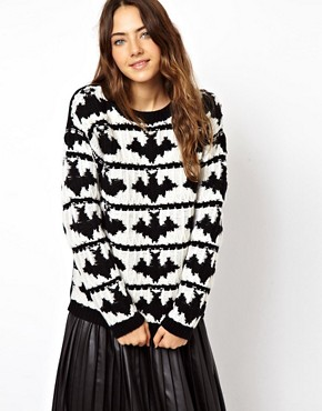 Image 1 of ASOS Bats Jumper In Lambswool