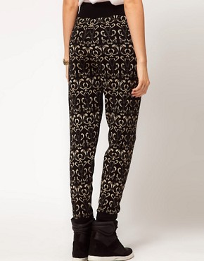 Image 2 ofASOS Knitted Jogger In Metallic Paisley
