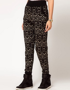 Image 4 ofASOS Knitted Jogger In Metallic Paisley