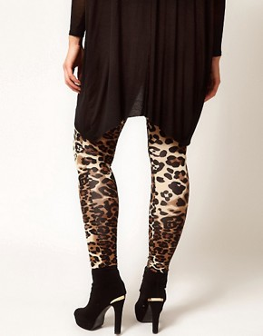 Image 2 ofASOS CURVE Leggings In Animal Print