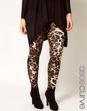 Image 4 ofASOS CURVE Leggings In Animal Print