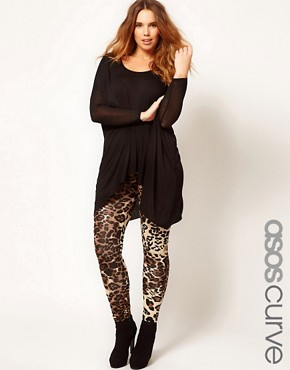 Image 1 ofASOS CURVE Leggings In Animal Print