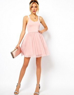 Image 4 ofASOS PETITE Exclusive Strappy Back Tutu Dress