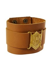 ASOS Leather Cuff With Emblem
