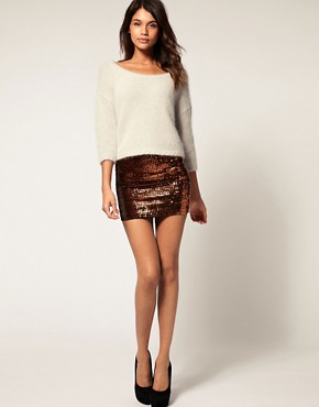 Image 1 ofASOS Mini Skirt with Sequins