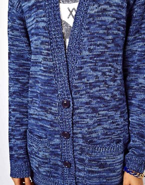Image 3 ofASOS Boyfriend Cardigan In Denim Twist