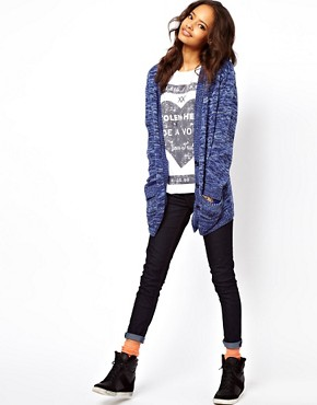 Image 4 ofASOS Boyfriend Cardigan In Denim Twist