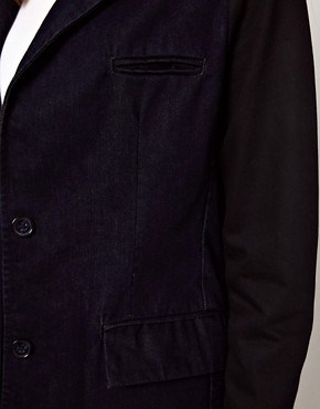 Image 3 ofASOS Denim Coat with Contrast Sleeves