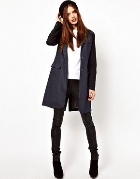 Image 4 ofASOS Denim Coat with Contrast Sleeves